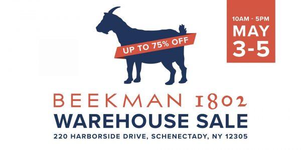 Beekman 1802 Warehouse Sale Coming to Mohawk Harbor
